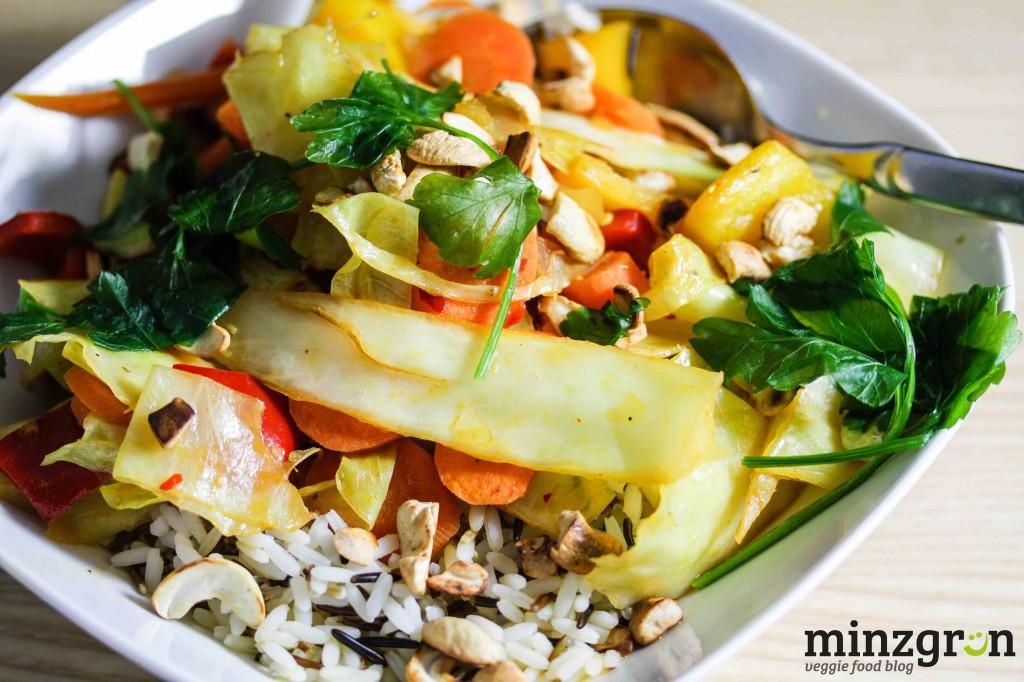 Knackiges Wokgemüse mit Orangensauce