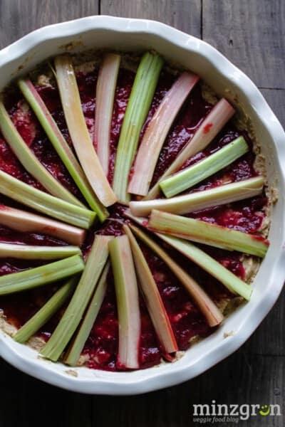 Rhabarber-Mandel Kuchen