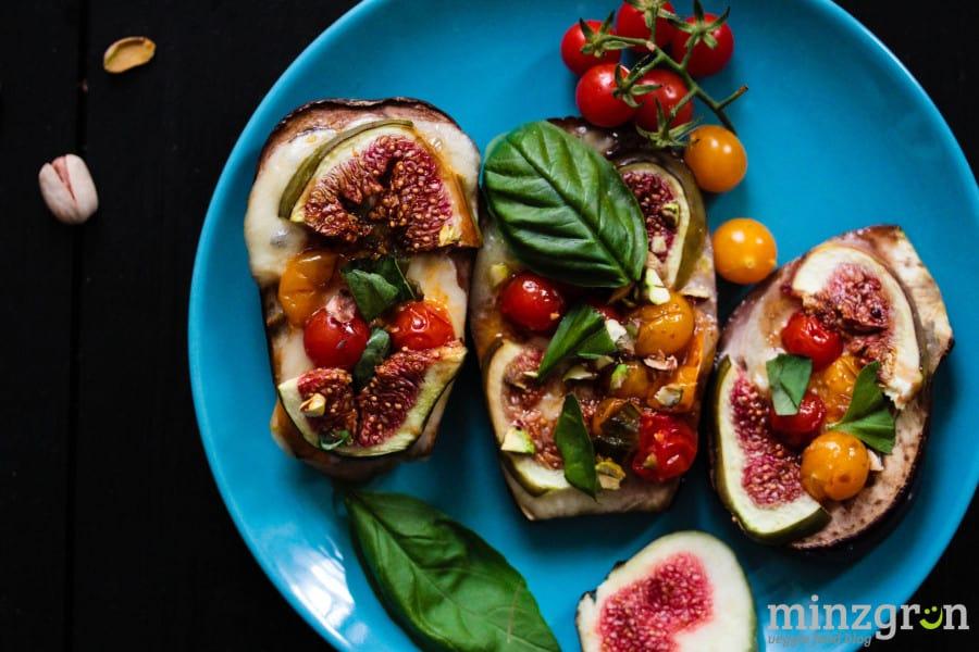 Auberginen mit Feigen und Tomaten