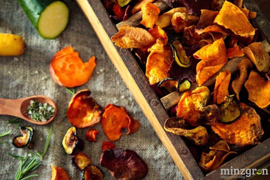 Gemüsechips ohne Fett