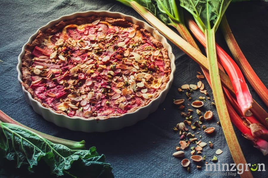 Rhabarber-Himbeer Quarkkuchen