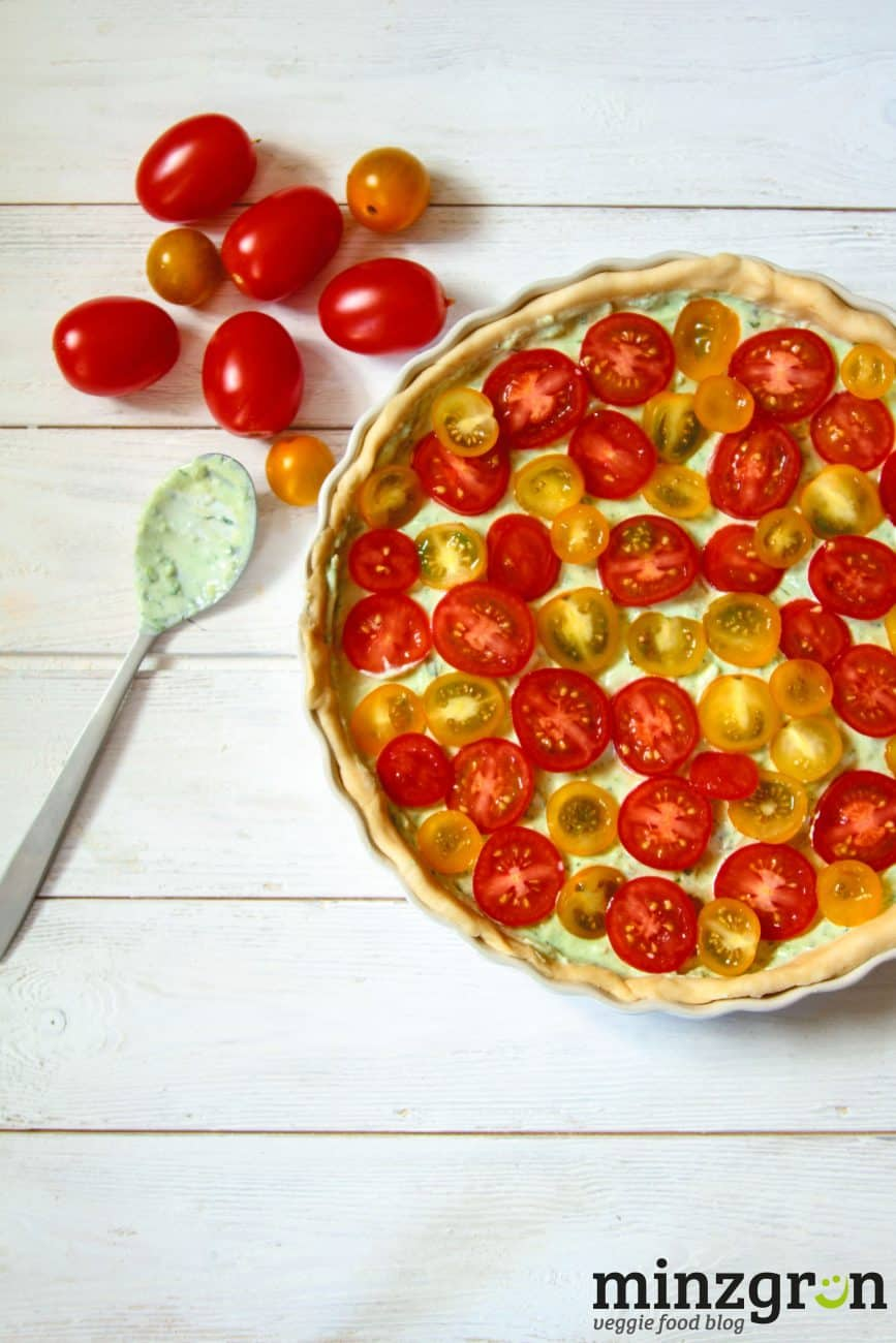 Tomatentarte mit Basilikumquark #7xregional