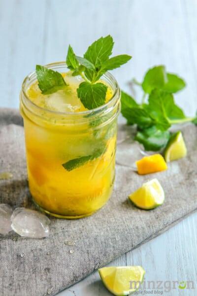 alkoholfreier Mango-Mojito