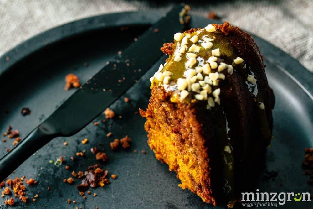 Kürbis-Marmorkuchen mit Orangenguss