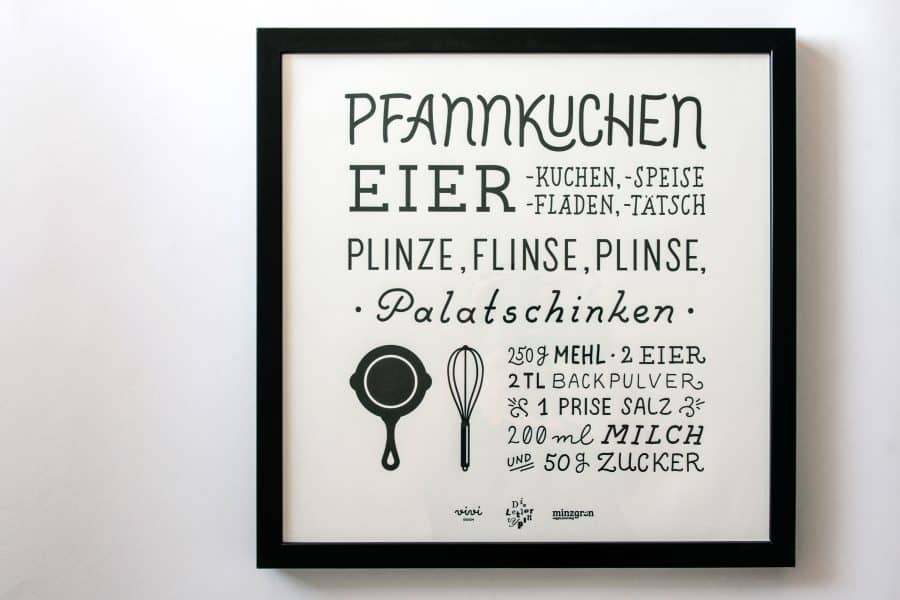 the pancake letterpress print