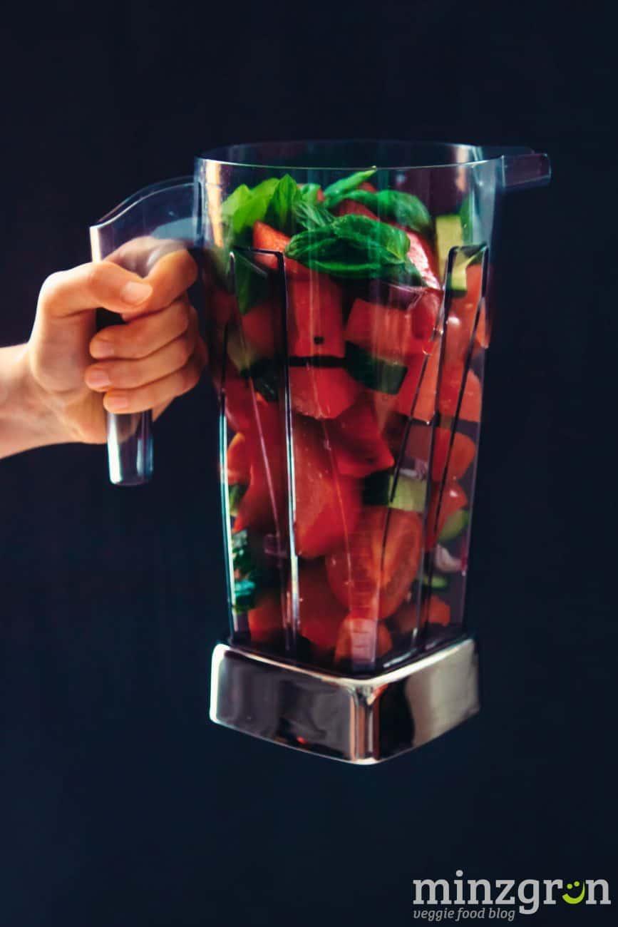 Tomaten-Wassermelonen-Gazpacho