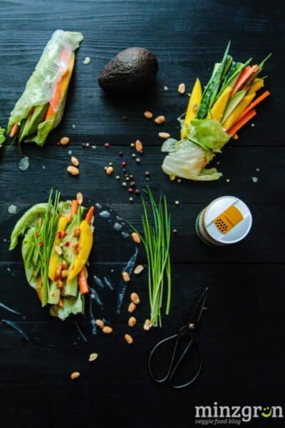Knackige Frühlingsrollen mit Mango-Kokos Sauce